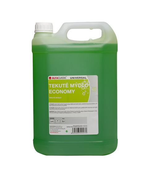 Tekuté mýdlo ECONOMY UNI zelené - 5 L
