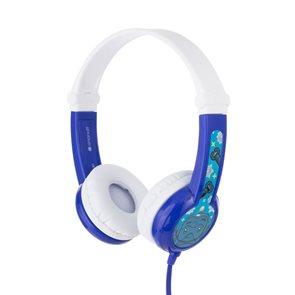 BuddyPhones Connect - dětská drátová sluchátka s mikrofonem, modrá
