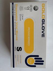 Jednorázové rukavice Vinyl s pudrem, bílé 100ks - vel. S