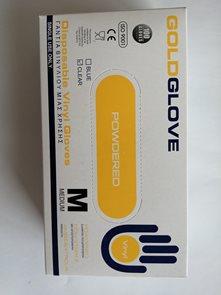 Jednorázové rukavice Vinyl s pudrem, bílé 100ks - vel. M