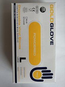 Jednorázové rukavice Vinyl s pudrem, bílé 100ks - vel. L