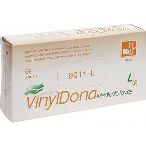 Jednorázové rukavice DONA Vinyl bez pudru, 100ks - vel. L
