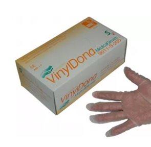 Jednorázové rukavice DONA Vinyl bez pudru, 100ks - vel. S