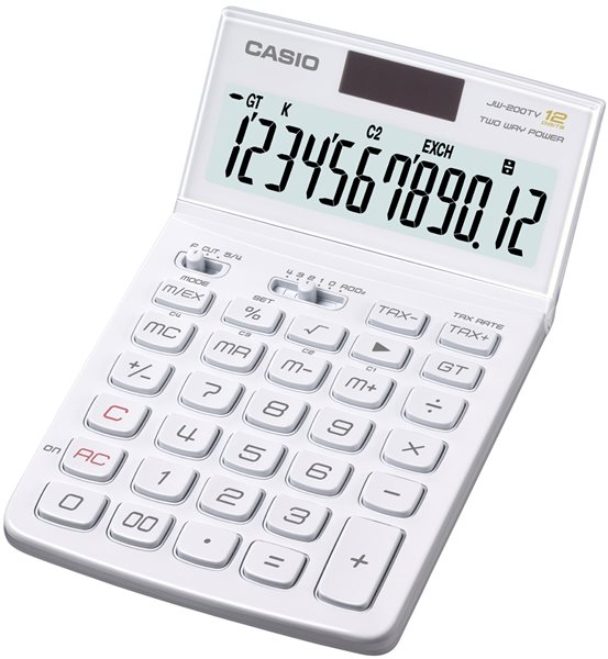 Casio Kalkulačka JW 200TV - white