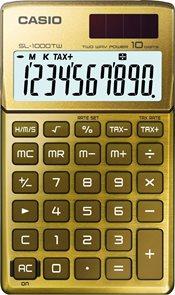 Casio Kalkulačka SL 1000TW GD - zlatá