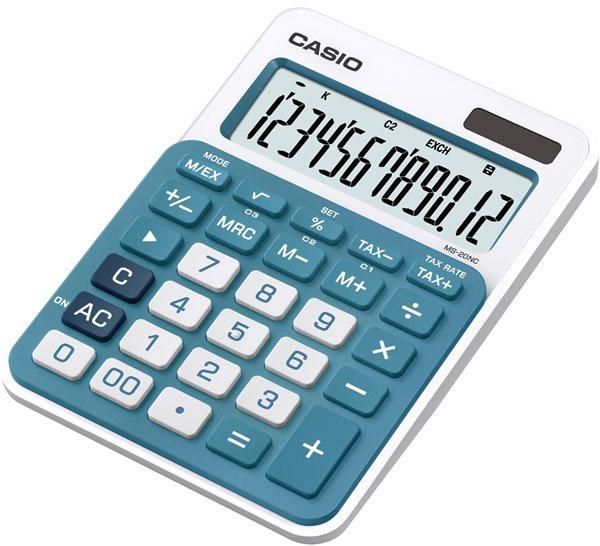 Casio Kalkulačka MS 20NC BU - modrá