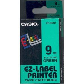 Samolepící páska 9 mm zelená + černý tisk