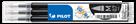 Pilot FriXion Ball 07 Náplň sada 3 ks - černá