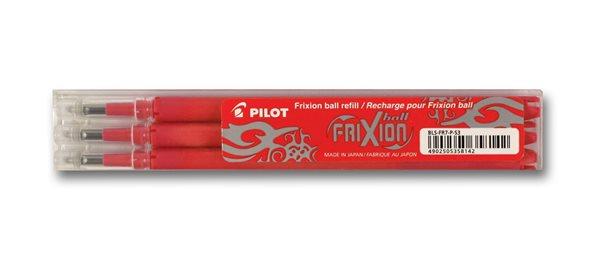 Pilot FriXion Ball 07 náplň sada 3 ks - červená