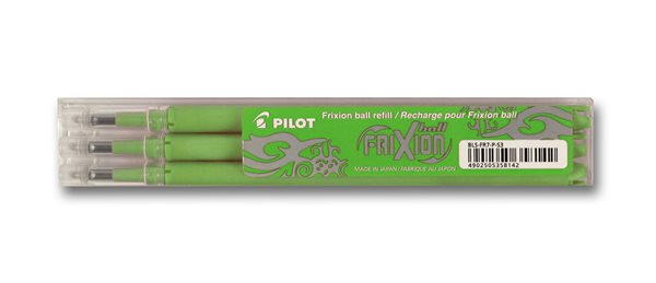 Pilot FriXion Ball 07 náplň sada 3 ks - zelená