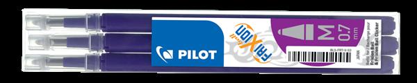 Pilot FriXion Ball 07 Náplň sada 3 ks - fialová