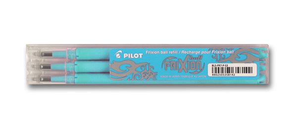 Pilot FriXion Ball 07 náplň sada 3 ks - světle modrá