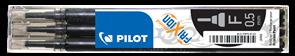 Pilot FriXion Point Náplň sada 3 ks - černá