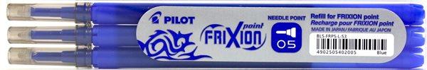 Pilot FriXion POINT Náplň do rolleru sada 3 ks - modrá