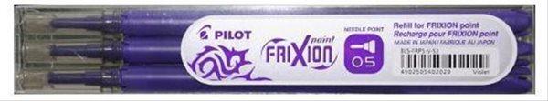 Pilot FriXion POINT Náplň do rolleru sada 3 ks - fialová