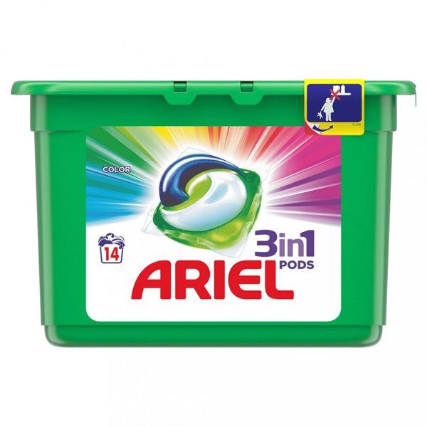 Ariel gelové kapsle Color 14 ks