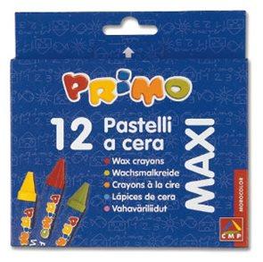 Primo Pastelky  MAXI voskové - 12 barev