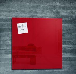 Sigel Skleněná magnetická tabule artverum 480x480x15 mm -  červená