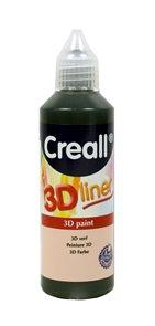 Barva 3D Liner, 80 ml, černá Creall