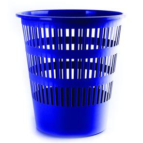 Donau Odpadkový koš perforovaný PP 16 l - modrý