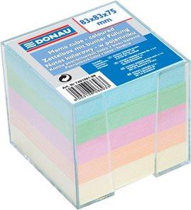 Donau Poznámkový papír v zásobníku 83x83 mm - mix barev