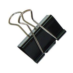 Klip Binder 12 ks černý - 19 mm