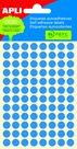 Apli Samolepící etikety v sáčku 8 mm - modré