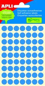 Apli Samolepící etikety v sáčku 10 mm - modré