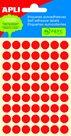 APLI Samolepicí etikety v sáčku 10 mm - červené
