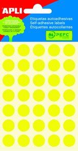 APLI Samolepicí etikety v sáčku 13 mm - žluté