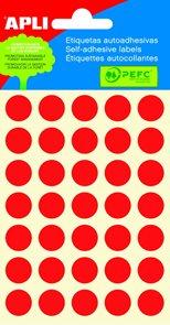 APLI Samolepicí etikety v sáčku 13 mm - červené