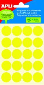 Apli Samolepící etikety v sáčku 19 mm - žlutá