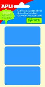Apli Samolepící etikety v sáčku 34x67 mm - modré