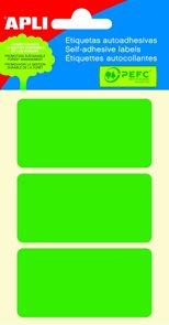 APLI Samolepicí etikety v sáčku 34 × 67 mm - zelené