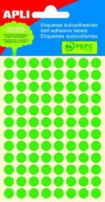 Apli Samolepící etikety v sáčku F 8 mm - zelené
