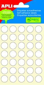 APLI Samolepicí etikety v sáčku 13 mm - bílé