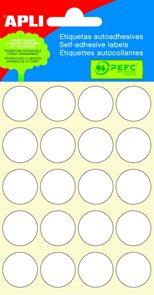 Apli Samolepící etikety v sáčku 19 mm - bílé