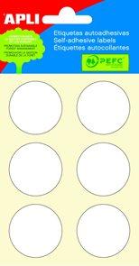 Apli Samolepící etikety v sáčku 32 mm - bílé