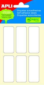 Apli Samolepící etikety v sáčku 20x50 mm - bílé