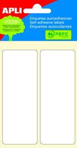 APLI Samolepicí etikety v sáčku 38 × 102 mm - bílé