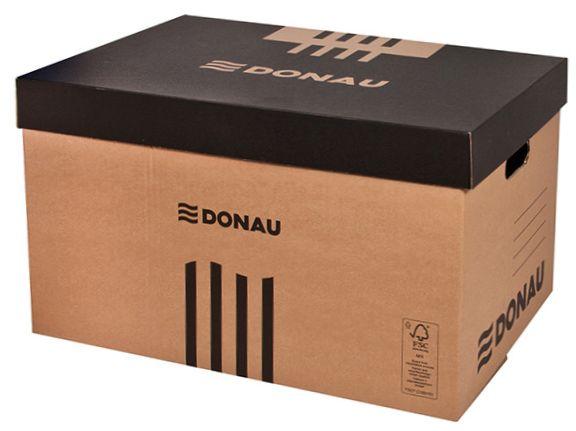 Donau Archivační krabice - hnědočerná, Sleva 20%