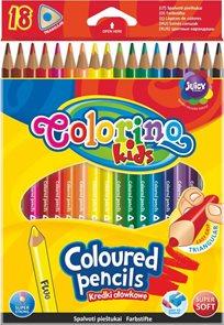 Trojhranné pastelky Colorino - 18 barev ( z toho 1 fluorescenční pastelka )