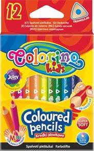 Trojhranné pastelky Colorino - krátké - 12 barev