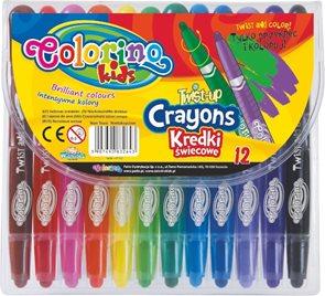 Voskovky Colorino - krátké - 12 barev