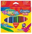 Trojhranné voskovky Colorino - 12 barev