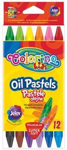 Olejové pastely Colorino, trojhranné - 12 barev