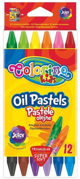 Trojhranné pastely Colorino - olejové - 12 barev