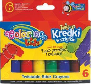 Voskovky silky TWIST-up - 6 barev