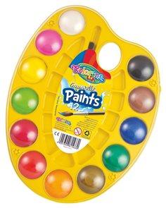 Vodové barvy - paletka se štětcem