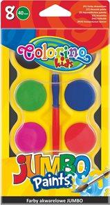 Vodové barvy JUMBO 40 ml - 8 barev